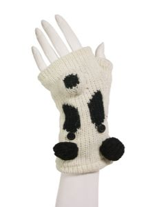 Animal Gloves~Funky Hippy Panda Animal Arm Warmers/Tube Gloves~Fair Trade by Folio Gothic Hippy~NG3P